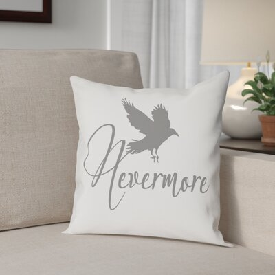 Nevermore Raven Cotton Throw Pillow