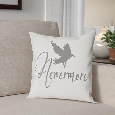 Nevermore Raven Cotton Throw Pillow