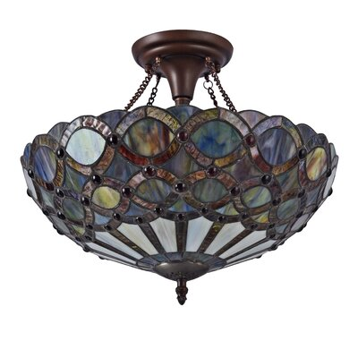 Queens 2-Light Semi Flush Mount