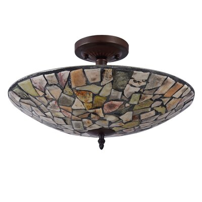 Hennig Mosaic 2-Light Semi Flush Mount