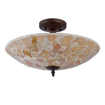 Hennigan Mosaic 2-Light Semi Flush Mount