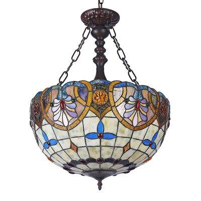 Quesinberry 2-Light Victorian Bowl Pendant