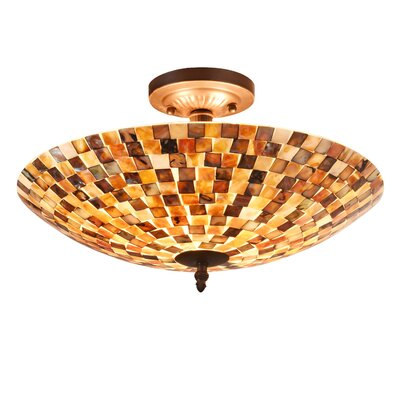 Henricks Mosaic 2-Light Semi Flush Mount