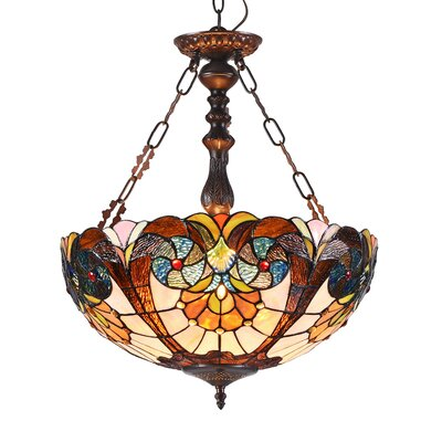 Quevedo 2-Light Victorian Bowl Pendant