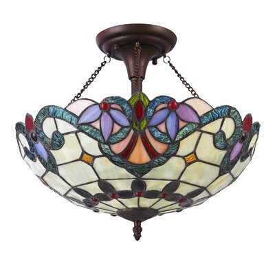 Queanbeyan 2-Light Semi Flush Mount
