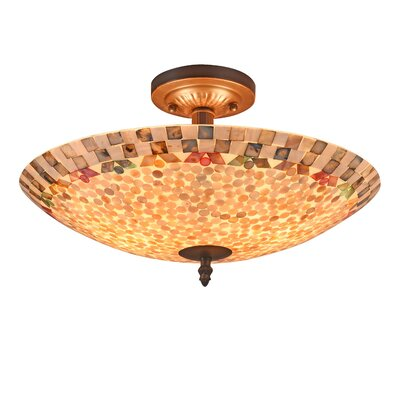 Hennings Mosaic 2-Light Semi Flush Mount