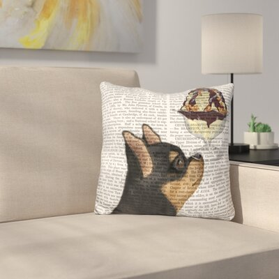 Chihuahua and Ginger Ice Cream Throw Pillow