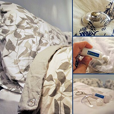 Keller Pinion Pins Secure Magnetic Duvet Clip Color: Clear