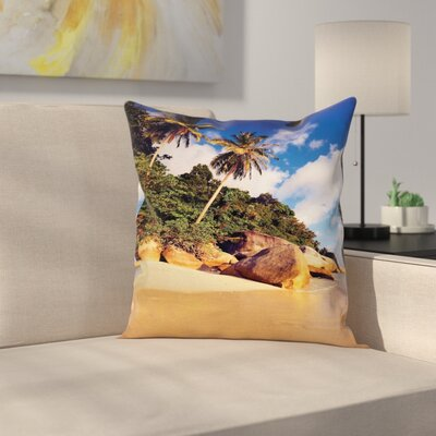 Tropical Serenity Nature Square Pillow Cover Size: 16 x 16