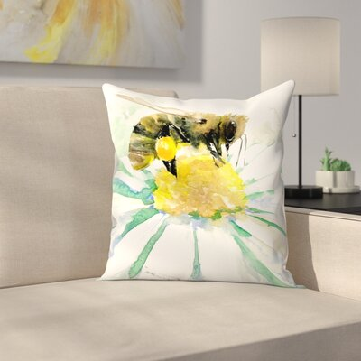 Honey Bee 2 Throw Pillow Size: 18 x 18