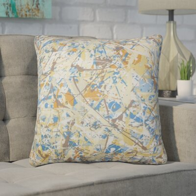 Bizzell Geometric Cotton Throw Pillow Color: Blue