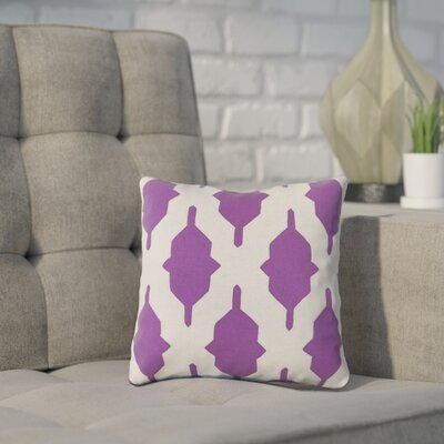 Meadors Throw Pillow Size: 20 H x 20 W x 4 D, Color: Violet, Filler: Polyester