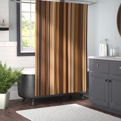 Orchard Shades of Earthen Tones Shower Curtain Size: 69 W x 75 L