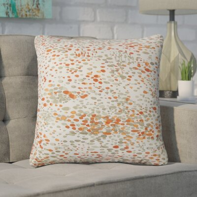 Yoan Graphic Cotton Throw Pillow Color: Persimmon