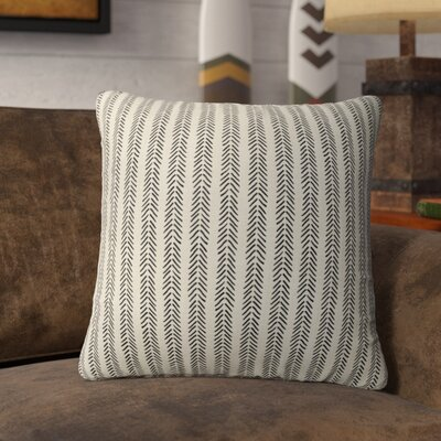 Couturier Striped Square Throw Pillow (Set of 16) Color: Ivory, Size: 18 H x 18 W