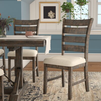 Dearing Ladder Back Side Upholstered Dining Chair
