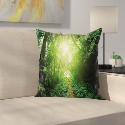 Way in Jungle of Malaysia Square Pillow Cover Size: 16 x 16