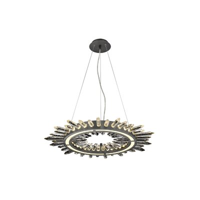 Aspen LED Drum Pendant Finish: Dark Bronze, Size: 142 H x 26.75 W