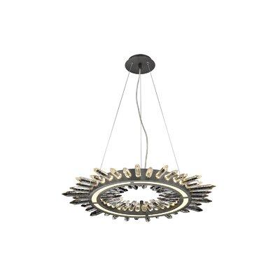 Aspen LED Drum Pendant Finish: Dark Bronze, Size: 142 H x 34.25 W