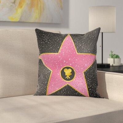 Walk of Fame Pop Square Pillow Cover Size: 24 x 24