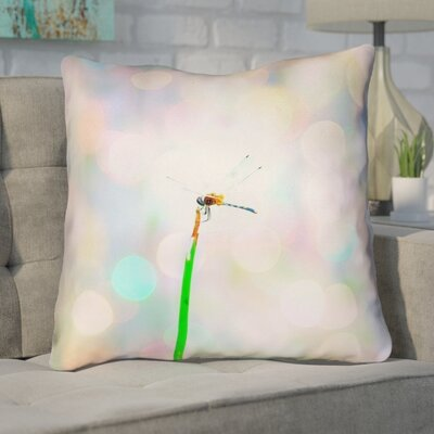 Gemmill Dragonfly and Lights Twill Double Sided Throw Pillow Type: Pillow Cover