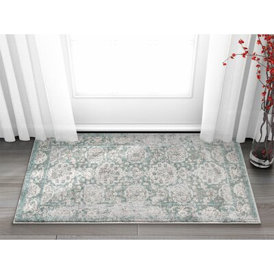 Osorio Vintage Oriental Distressed Persian Gray Area Rug Rug Size: Rectangle 23 x 311