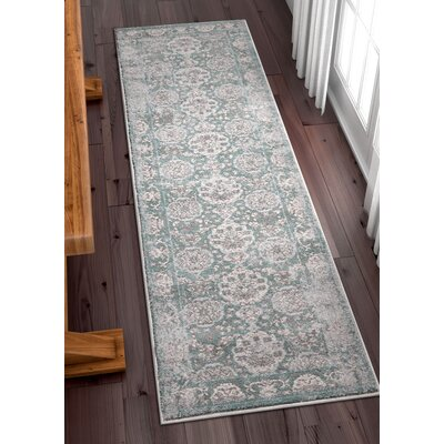 Osorio Vintage Oriental Distressed Persian Gray Area Rug Rug Size: Runner 23 x 73