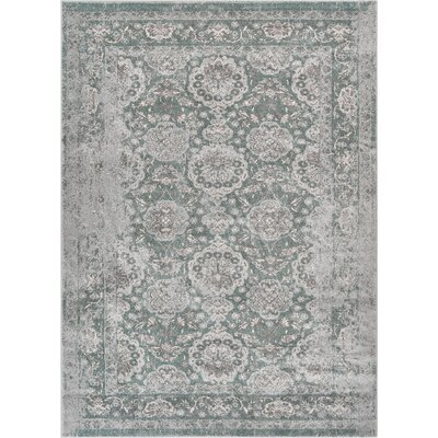 Osorio Vintage Oriental Distressed Persian Gray Area Rug Rug Size: Rectangle 311 x 53