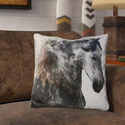 Letson Proud Stallion Alt Version Throw Pillow