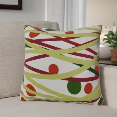 Doodle Decorations Throw Pillow Size: 26 H x 26 W, Color: Green
