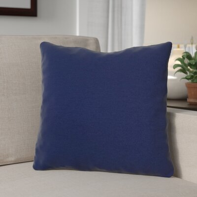 Margaux Cord Outdoor Throw Pillow Color: Navy