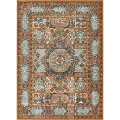 Osorio Vintage Over Dyed Medallion Center Brown Area Rug Rug Size: Rectangle 311 x 53