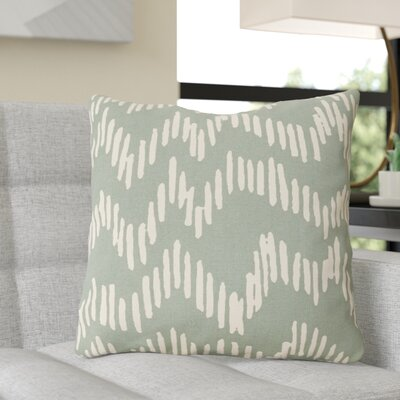 Ochoa Cotton Throw Pillow Size: 18 H x 18 W x 4 D, Color: Moss/Beige