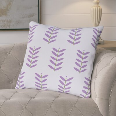 Arnaud Floral Print Outdoor Pillow Color: Heather, Size: 16 H x 16 W x 1 D