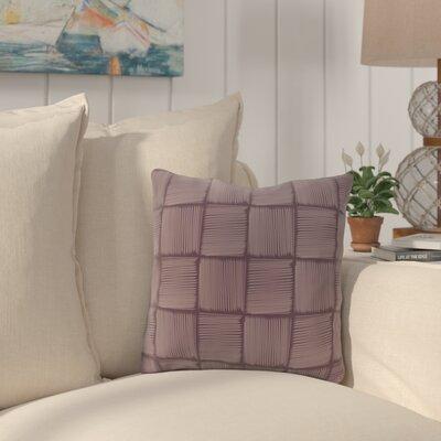 Brisa Basketweave Geometric Outdoor Throw Pillow Color: Purple