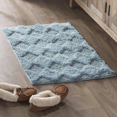 Outlook 100% Soft Cotton Bath Rug Size: 34 x 21, Color: Arctic Blue