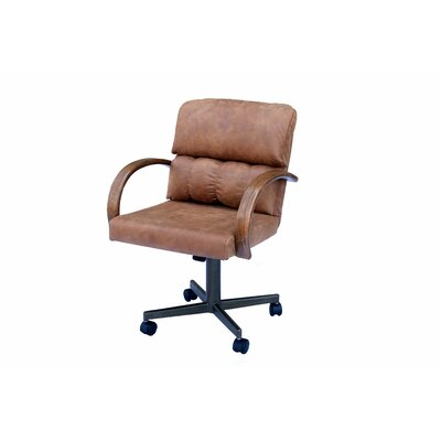 Sprenger Casual Caster Upholstered Dining Chair