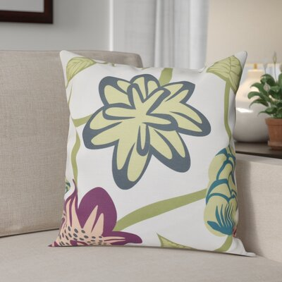 Engine House Tropical Floral Outdoor Throw Pillow Size: 20 H x 20 W, Color: Purple