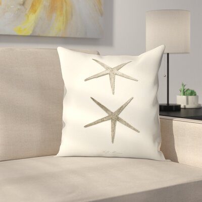 Greige Star Fish Throw Pillow Size: 18 x 18