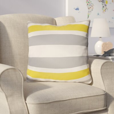 Colinda Striped Indoor Throw Pillow Size: 18 H x 18 W x 4 D, Color: Grey/Yellow
