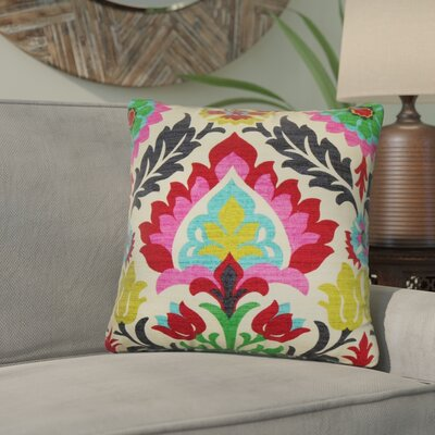 Tian Floral Cotton Throw Pillow