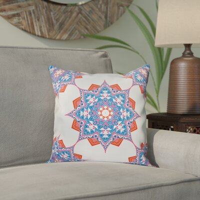 Meetinghouse Rhapsody Geometric Print Throw Pillow Size: 16 H x 16 W, Color: Light Blue