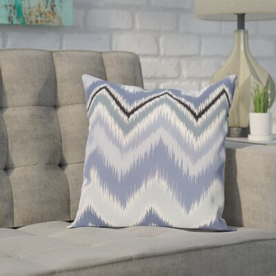 Brookeville Ikat Chevron Print Throw Pillow Size: 16 H x 16 W x 1 D, Color: Cadet
