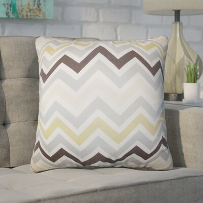 Bouck Zigzag Cotton Throw Pillow Color: Brown/Gray