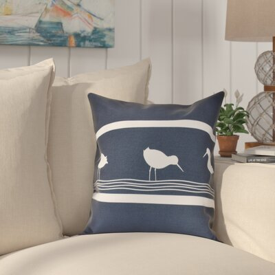 Hancock Birdwalk Animal Print Outdoor Throw Pillow Size: 20 H x 20 W, Color: Navy Blue