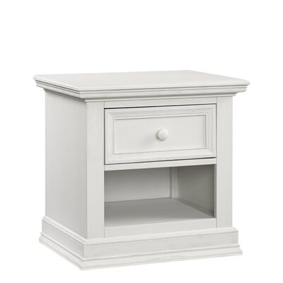 Barrientes 1 Drawer Nightstand Color: Oyster White