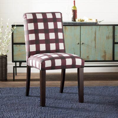 Linnet Backwoods Side Chair Color: Red/White