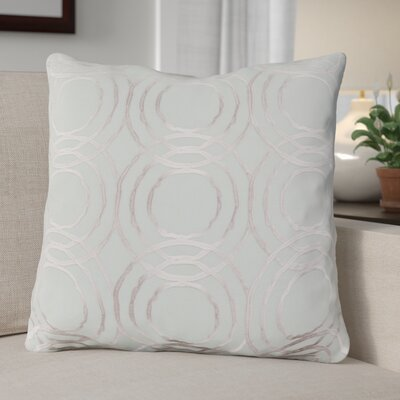 Ridgewood Throw Pillow Size: 20 H x 20 W x 4 D, Color: Mint/Cream, Fill Material: Down
