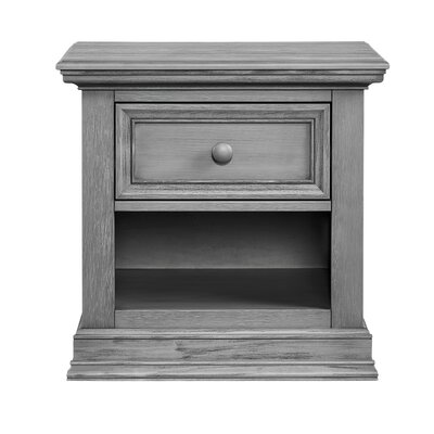 Barrientes 1 Drawer Nightstand Color: Graphite Gray