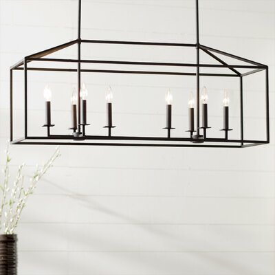 Odie 8-Light Kitchen Island Pendant Bulb Included: No, Finish: Blacksmith